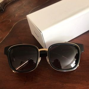 Christian Dior black sunglasses with gold details